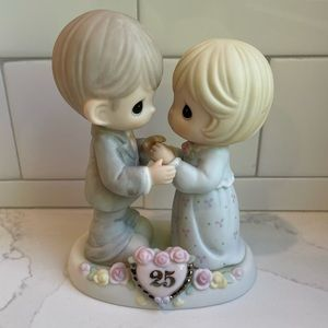 Precious Moments Our Love Still Sparkles in Your Eyes 25th Anniversary Figurine